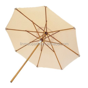 "10"" Royal Teak Deluxe Umbrella White"