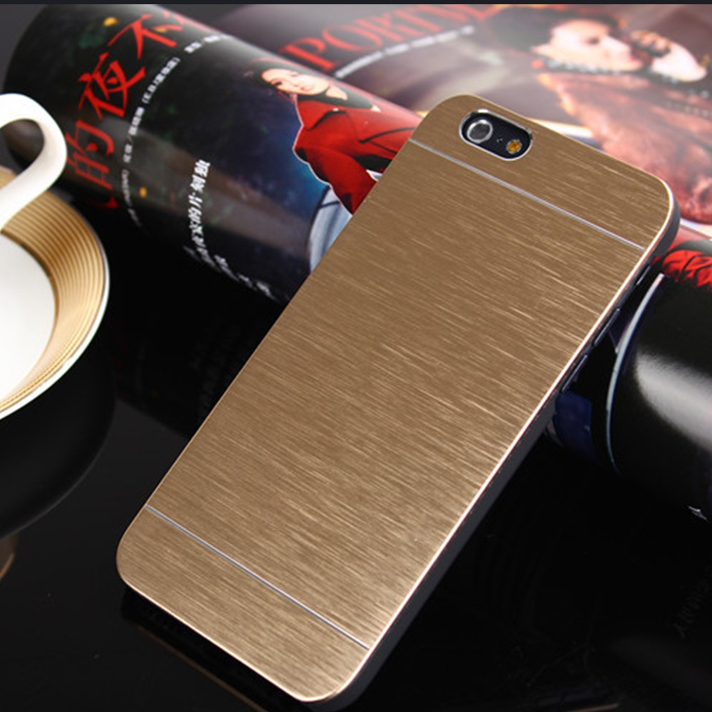 High quality mobile accessories hard pc aluminum metal brush phone case for iphone 7