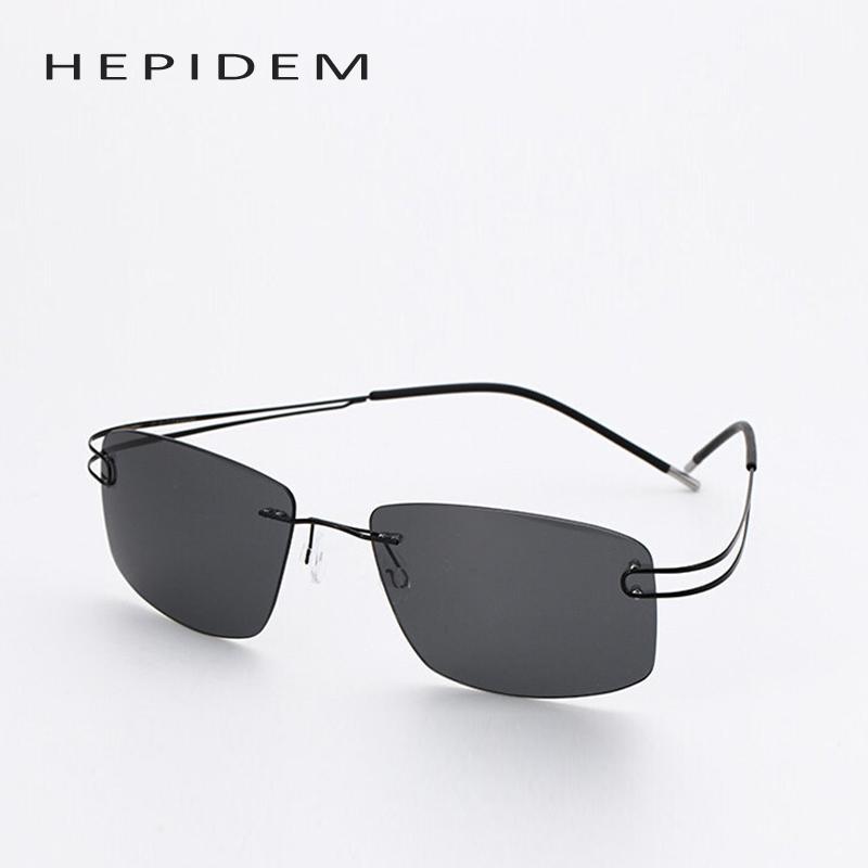 8c766850e3 Rimless Titanium Frame Polarized Sunglasses