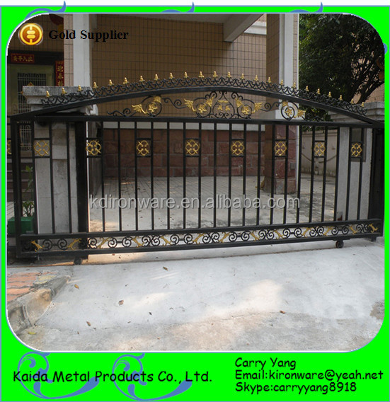 New wrought iron sliding main gate designs buy sliding - Sliding main gate design for home ...