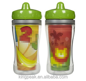 2017 Best Selling Product double wall insulated Spout Sippy Cup/Baby Thermal training cup/BPA free baby first Trainer cups