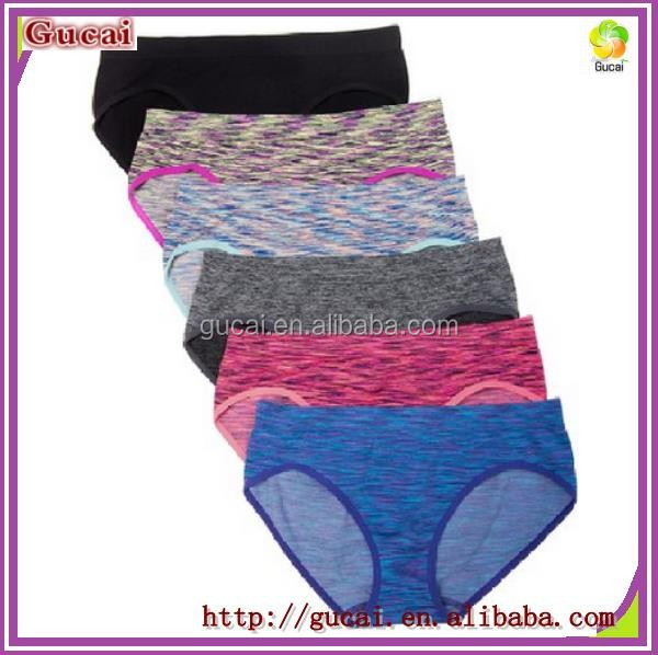 cedf0ed06 Gucai High Quality Sexy Women s 6 Pack Heather Low-Rise Hipster Panties  Pure Color Seamless