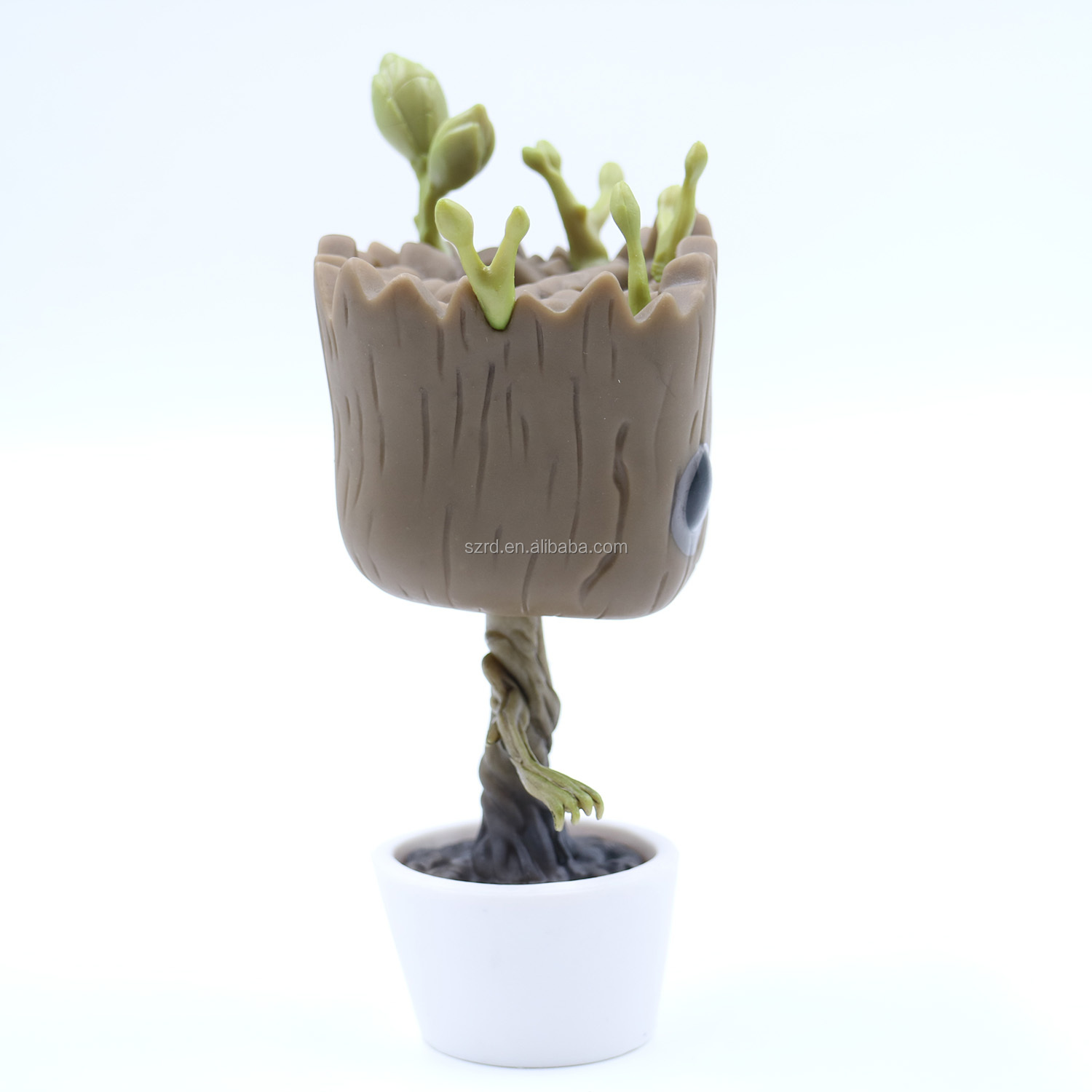 Eco-friendly customized vinyl cartoon character flower pot figures for decoration