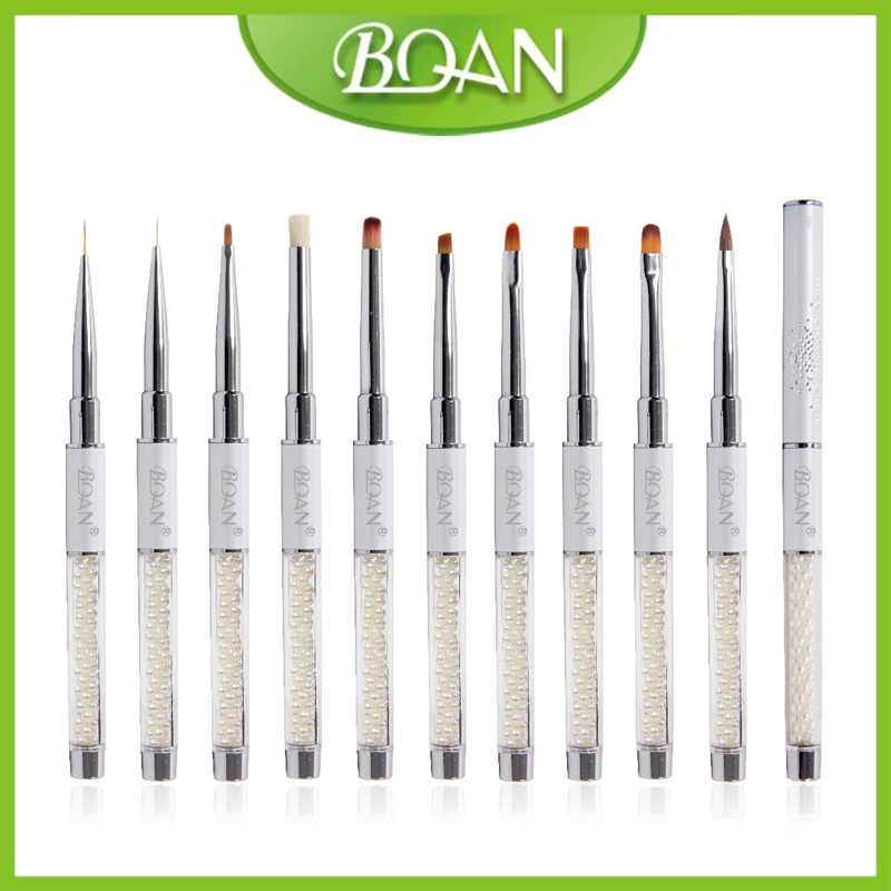 BQAN Pearl Series Nail Brush Acrylic UV Nail Art Brush Painting Brush Kit