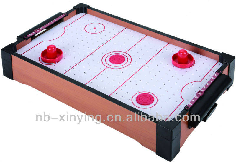 Wooden Mini Air Hockey Table Game For Play