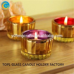candlesticks 5 candles Mirror effect Small glass Tealight holder Glass