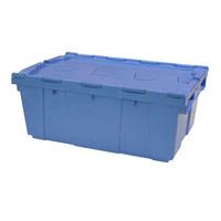 High quality plastic logistic box storage moving crate with lid for sale