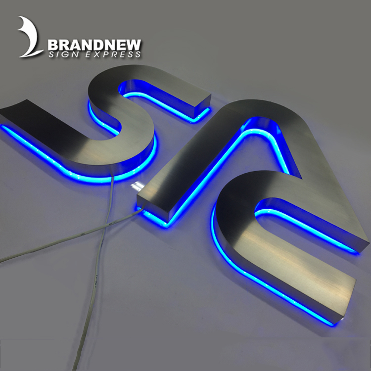 Very beautiful custom made 3d face and back lit led stainless steel channel letter signs