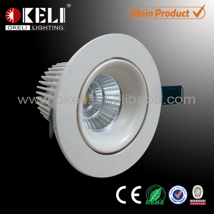 Die cast aluminum adjustable COB led downlight 10W with horn inner ring IP44 for Haltway, Garage, Dining Room, Bedroom, Pathway