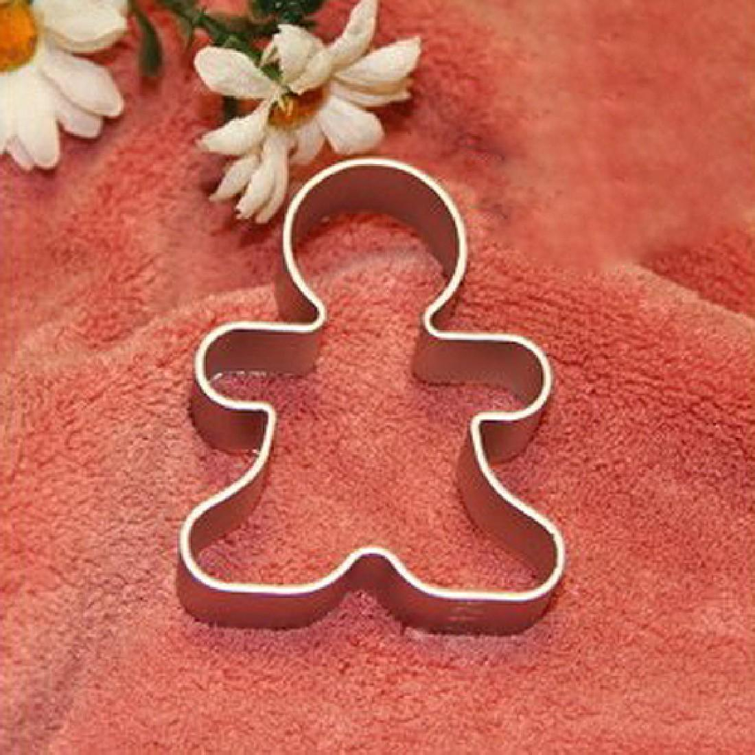 Christmas Cookie Cutter Tools Aluminium Alloy Gingerbread Men Shaped Holiday Biscuit Mold Kitchen cake Decorating Tools