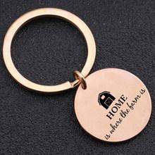 Домашняя цепочка для ключей для членов семьи, подарок Farmier, брелок для папы, мужчин, День отца, день рождения, аксессуары для ключей, брелок, 1 ...(Китай)