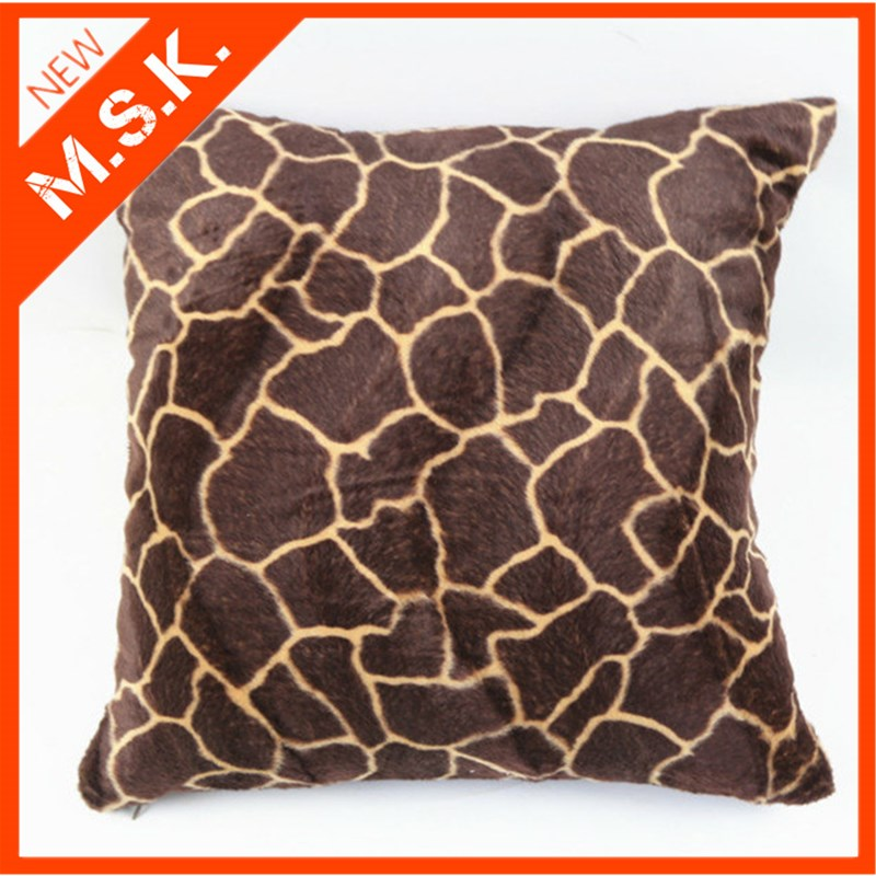 Decorative Throw Pillow Case Velour Velvet Animal Wool Tiger Leopard Print Sofa Cushion Cover