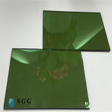China factory solar control 6mm green reflective glass cost