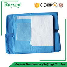 Hi performance nonwoven buttock surgical drape SMS