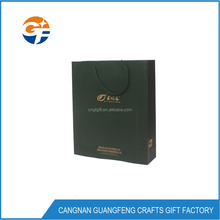 Reusable High Quality Hot Stamping Black Hand Hard Paper Bag For Birthday Gifts Packaging
