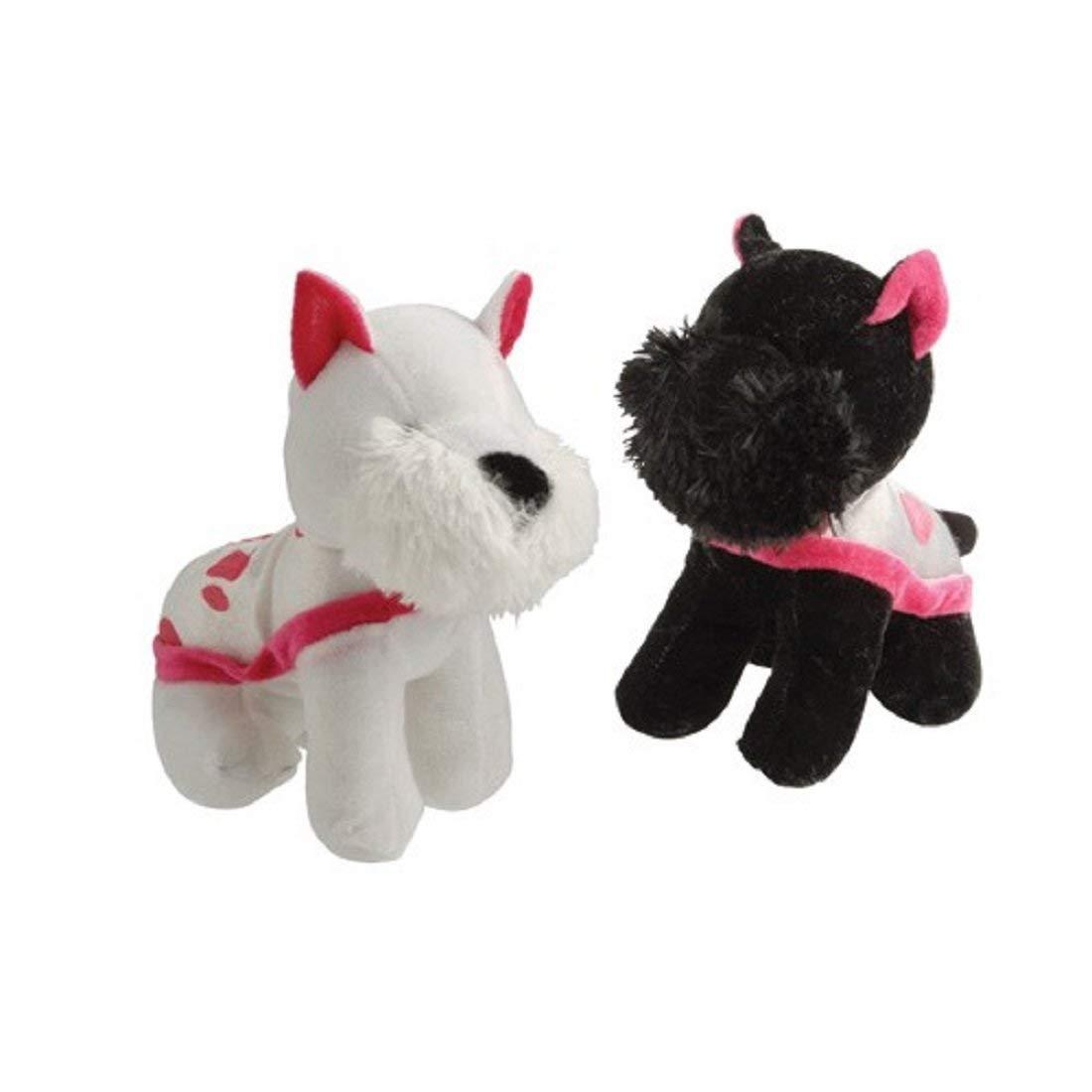 Dozen Assorted Standing Stuffed Plush Scottish Terrier Scottie Dogs With Coats Animal Toys