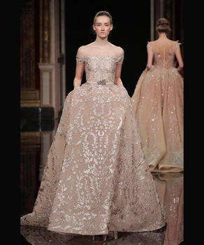 Pink Lace Spanish Middle East Wedding Anniversary Dresses