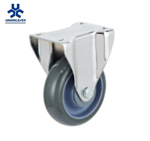 Rigid Industry Polyurethane Material PU Fixed Caster and Wheel