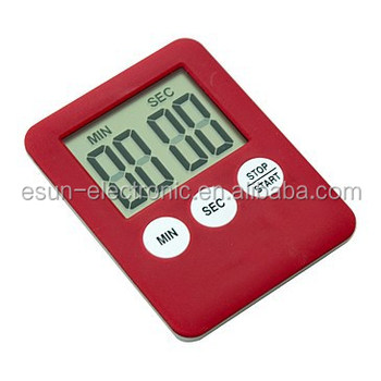 Esun Supply Super Slim Cooking Feeder Lab Digital Kitchen Magnetic  Countdown Timer/promotional Gift/loud Voice Alarm Timer - Buy 2 Digit  Countdown