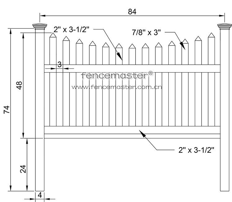 Scalloped Square Pvc Picket Fencing Buy Scalloped Picket