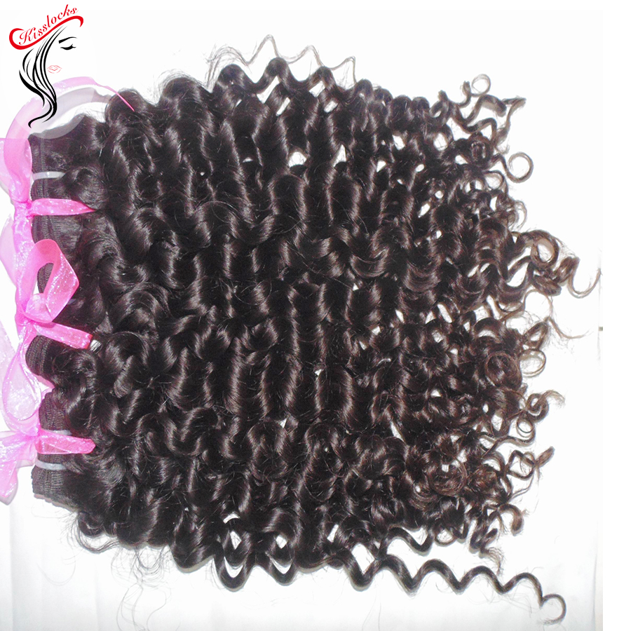 10A Beauty Supplier Afro Italian <strong>Curly</strong> <strong>Weave</strong> 100% Virgin <strong>Malaysian</strong> Human <strong>Hair</strong> Permanent Curls Natural Dark Brown #1B