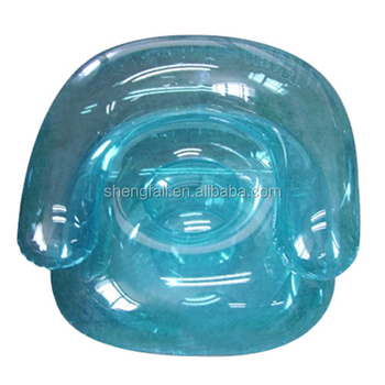 Clear blue inflatable sofa chair beach chair for promotion  sc 1 st  Alibaba : clear inflatable chair - Cheerinfomania.Com