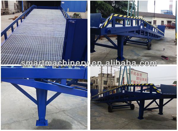 Used Folding Steel Yard Hydraulic Mobile Dock Container Loading Ramp for Wheelchair Car Truck Forklift Motorcycle Vehicle