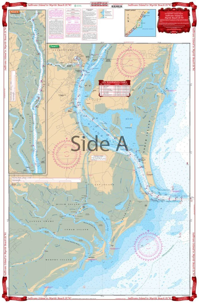 Waterproof Chart, 98 CHARLESTON HARBOR TO MYRTLE BEACH, SC