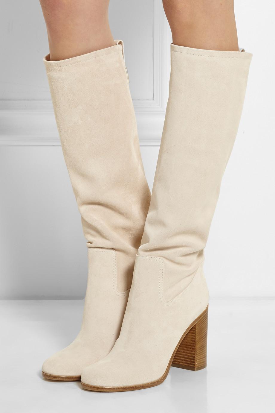 top vente 2015 nouveau design chunky bottes beige talons hauts bottes pour femmes haute bottes. Black Bedroom Furniture Sets. Home Design Ideas