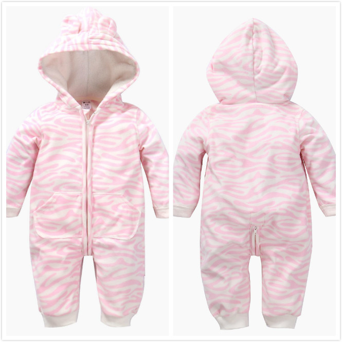 Wholesale long sleeve hooded autumn winter baby rompers