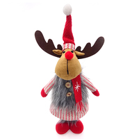 35cm standing Christmas deer girl xmas decorating ideas home