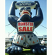 Custom animal models hold license plates giant inflatable gorilla