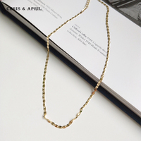 Simple Design 925 Pure Sterling Silver Chain Necklace