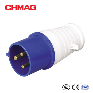 3 phase blue 3 flat pins 013 16A 32A male female industrial plug socket for industrial