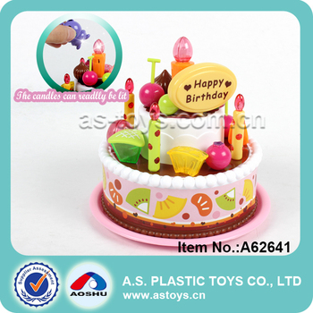 Plastic Birthday Cake Toy For Kids With Light And Music Buy - Plastic birthday cake