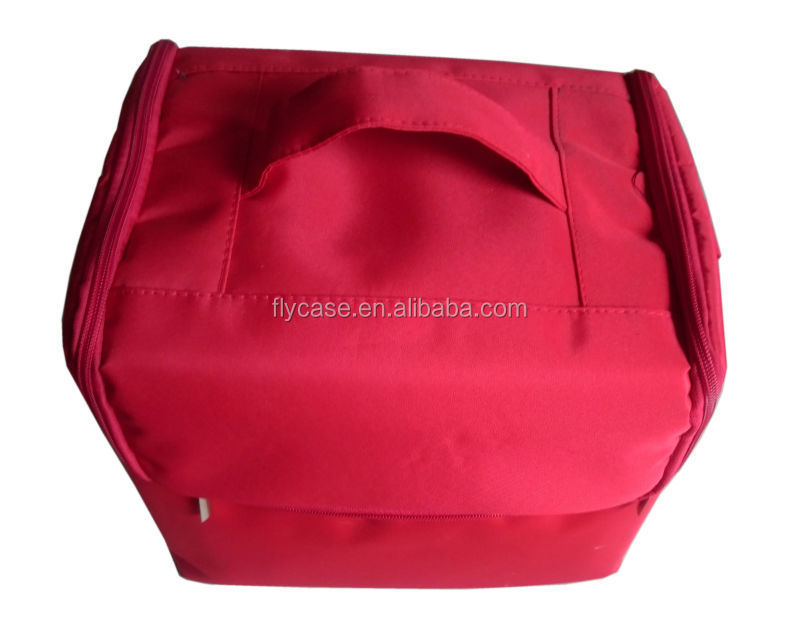 PU leather make up case ,PU leather cosmetic case PVC beauty case with logo print ,plate inside