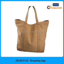 Best quality handle style camal plain color blank sequins decoration expensive women cotton canvas tote bag, tote bag canvas