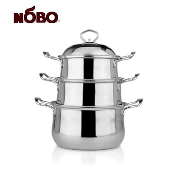 Cooking pots set wholesale stainless steel bottom korean cookware