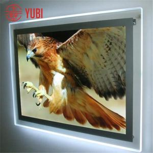 wall mount led hanging acrylic sandwich photo frames