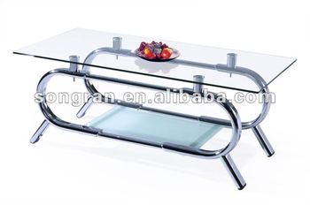 Gentil Modern Design Good Quality Metal Glass Tea Table Side Table 309#
