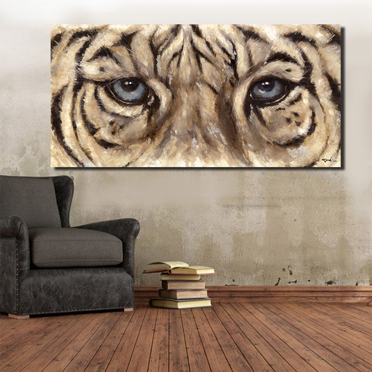 Modern wall art poster and printed wall picture living room home decoration large canvas art banner printing Tigers