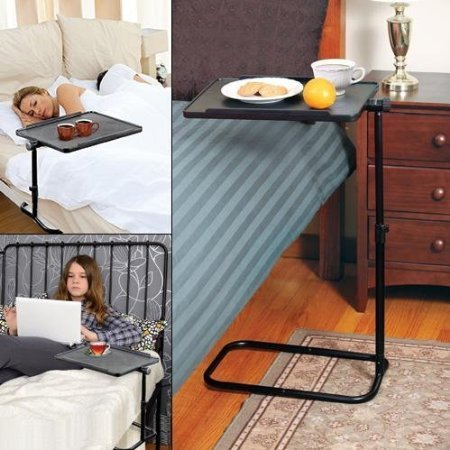 Swivel Adjustable Laptop Table Over Bed Tray Table