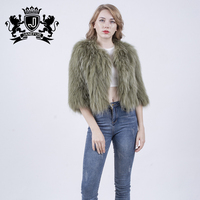2019 New Design Plus Size Women Clothing Cheap Price Luxurious Lady Knitted Raccoon Fur Jacket