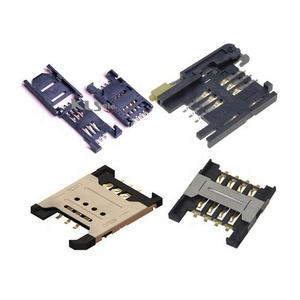 Good quality smt edge card connector micro smart pcb nano dual double push push CF SD SIM slot holder 1.27mm 2.54mm