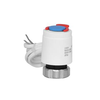 Motorized Thermal Actuator NC Heating Valve Actuator For Water Heating Manifolds Systems
