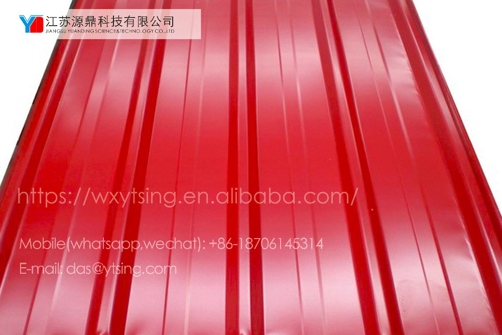 Hoge kwaliteit verschillende kleur geglazuurd yd 0351 ppgi staal dakplaat buy product on - Geschilderde bundel ...