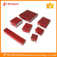 Handmade red paper unique free sample wholesale jewelry box supplies