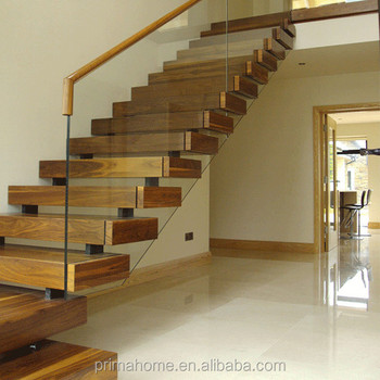 Indoor Wood Step Mono Stringer Staircase / Stair Kit