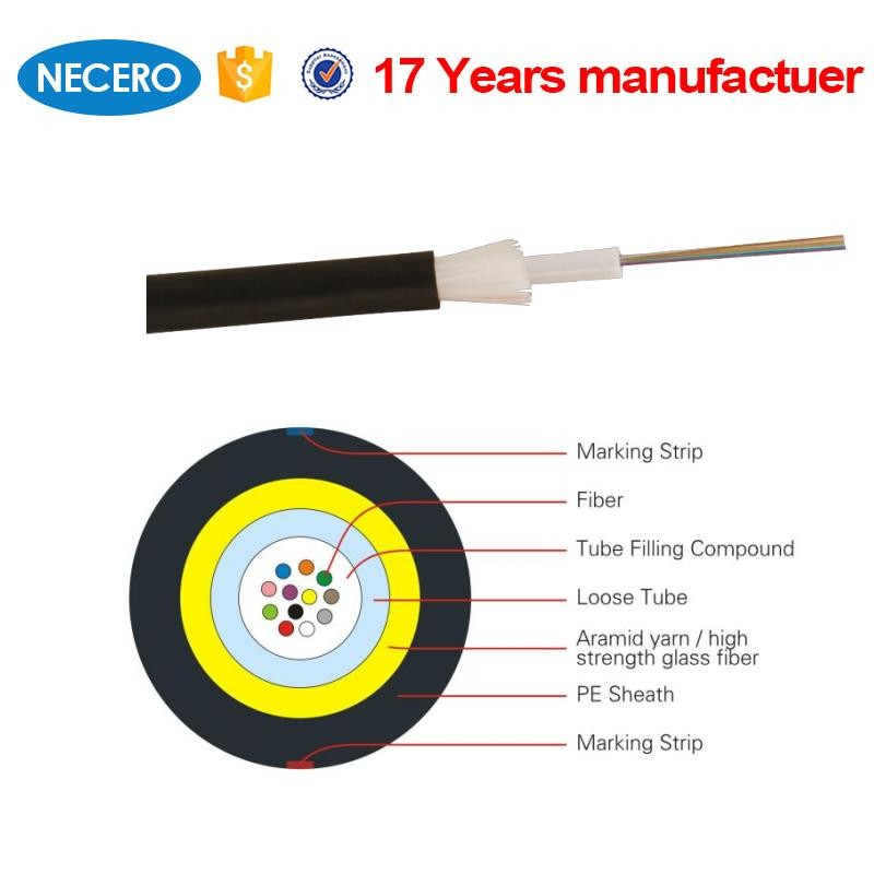 Special custom good mechanical performance 24 core JET fiber optic cable