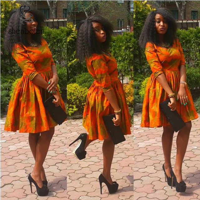 M2860 Fashion African print style dress patterns, dashiki african dresses clothing